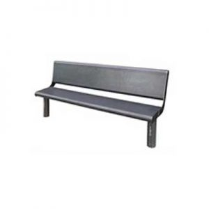 Double park bench with backrest